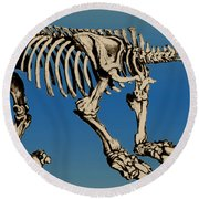 Megatherium Extinct Ground Sloth Round Beach Towel
