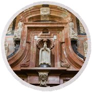 Mezquita Cathedral Architectural Details Round Beach Towel
