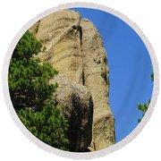 Mica Rock In The Black Hills Round Beach Towel