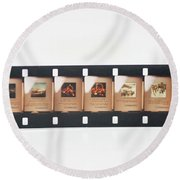 Microfilm Round Beach Towel