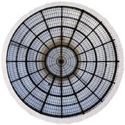 Milan Galleria Vittorio Emanuele II Round Beach Towel by Joana Kruse