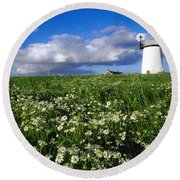 Millisle, County Down, Ireland Round Beach Towel