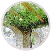 Mission San Jose San Antonio Texas Round Beach Towel