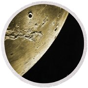 Moon, Apollo 16 Mission Round Beach Towel by Science Source