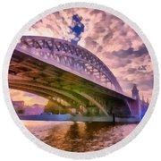 Moscow's Bridges Round Beach Towel