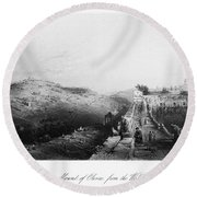 Mount Of Olives Round Beach Towel