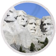 Mount Rushmore National Memorial, South Round Beach Towel