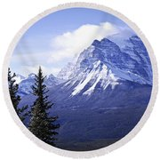 Mountain Landscape Round Beach Towel