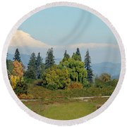 Mt. Adams In The Country Round Beach Towel