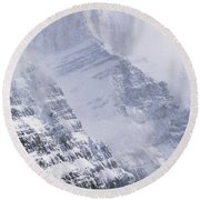 Mt. Chephren, Banff National Park Round Beach Towel
