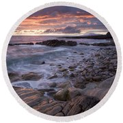 Mullaghmore Head, Co Sligo, Ireland Round Beach Towel