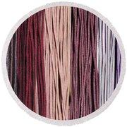 Multi-colored Striped Fabrics Round Beach Towel