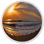 My World Round Beach Towel