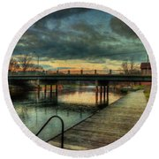Napanee Harbour  Round Beach Towel