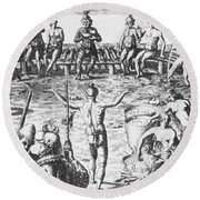 Native Amercian Medicine Round Beach Towel by Science Source