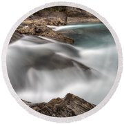 Natural Bridge Yoho National Park Round Beach Towel