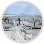 Natures Ice Sculptures 12 Round Beach Towel