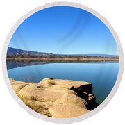 New Mexico Series - Abiquiu Lake Round Beach Towel