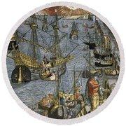 New World: Voyage, 1592 Round Beach Towel