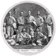 New York Baseball Team Round Beach Towel