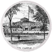 New York: Castle Garden Round Beach Towel