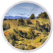 New Zealand Round Beach Towel by Les Cunliffe