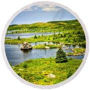 Newfoundland Landscape Round Beach Towel