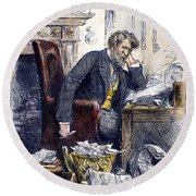 Newspaper Editor, 1880 Round Beach Towel