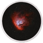Ngc 281, The Pacman Nebula Round Beach Towel by Rolf Geissinger