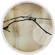 November Bones Round Beach Towel