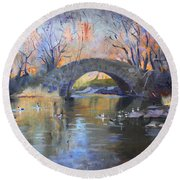 Nyc Central Park Round Beach Towel