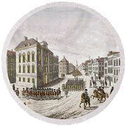 Occupied New York, 1776 Round Beach Towel