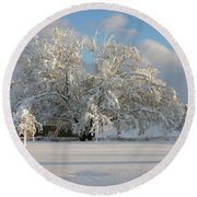 October Surprise 1872 Round Beach Towel