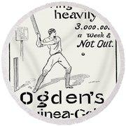 Ogdens Cigarettes, 1897 Round Beach Towel