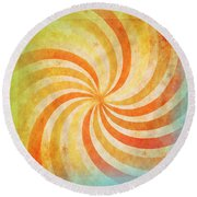 Old Grunge Paper Round Beach Towel