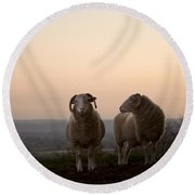 On The Hill Round Beach Towel