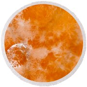 Orange 2 Round Beach Towel