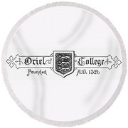 Oxford: Coat Of Arms Round Beach Towel