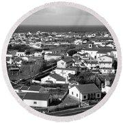 Parish In The Azores Round Beach Towel