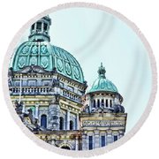 Parliament  Round Beach Towel