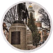 Paul Revere-statue Round Beach Towel