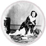 Pauline Cushman (1833-1893) Round Beach Towel
