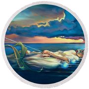 Pavane For A Dead Princess Round Beach Towel