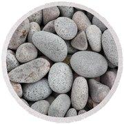 Pebbles On Beach Round Beach Towel