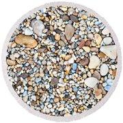 Pebbles Round Beach Towel by Tom Gowanlock