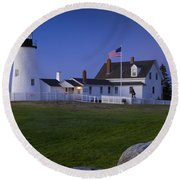 Pemaquid Point Lighthouse Round Beach Towel by Brian Jannsen
