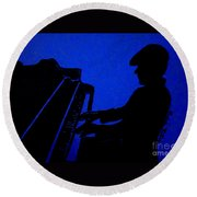 Piano Man Round Beach Towel