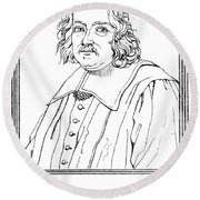 Pierre De Fermat, French Mathematician Round Beach Towel by Science Source