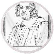Pierre De Fermat, French Mathematician Round Beach Towel