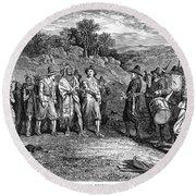 Pilgrims: Massasoit Round Beach Towel